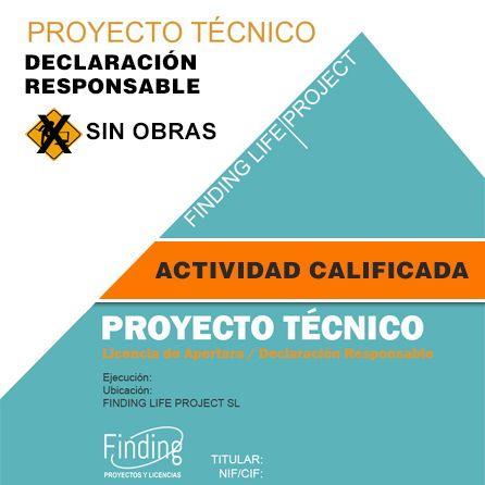 Proyecto Técnico actividad calificada sin obras