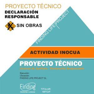 Proyecto Técnico Declaración Responsable actividad inocua sin obras